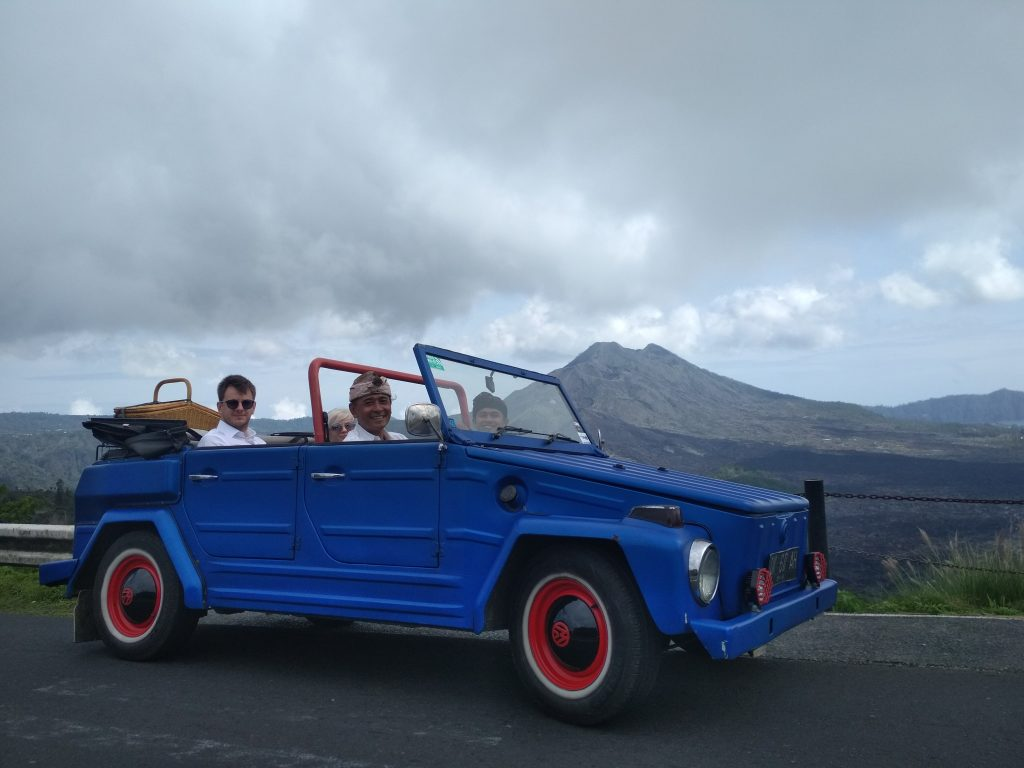 East Bali jeep tour people in vw convertible